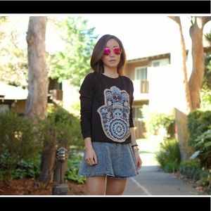 Like NEW Hamsa hand print sweatshirt